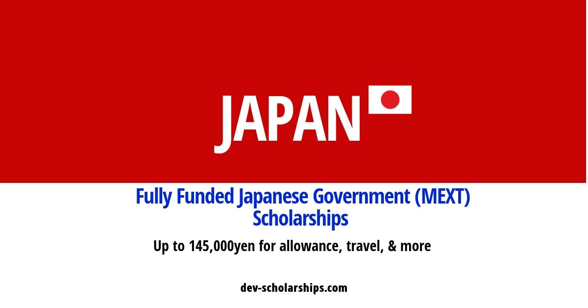 Fully funded japanese government scholarship – Dev ...