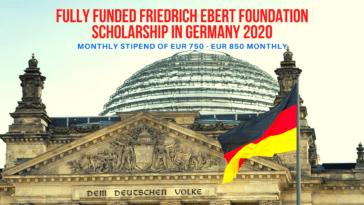 Fully Funded Friedrich Ebert Foundation Scholarship in Germany 2020