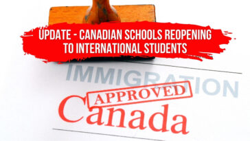 Update - Canadian Schools Reopening to International Students