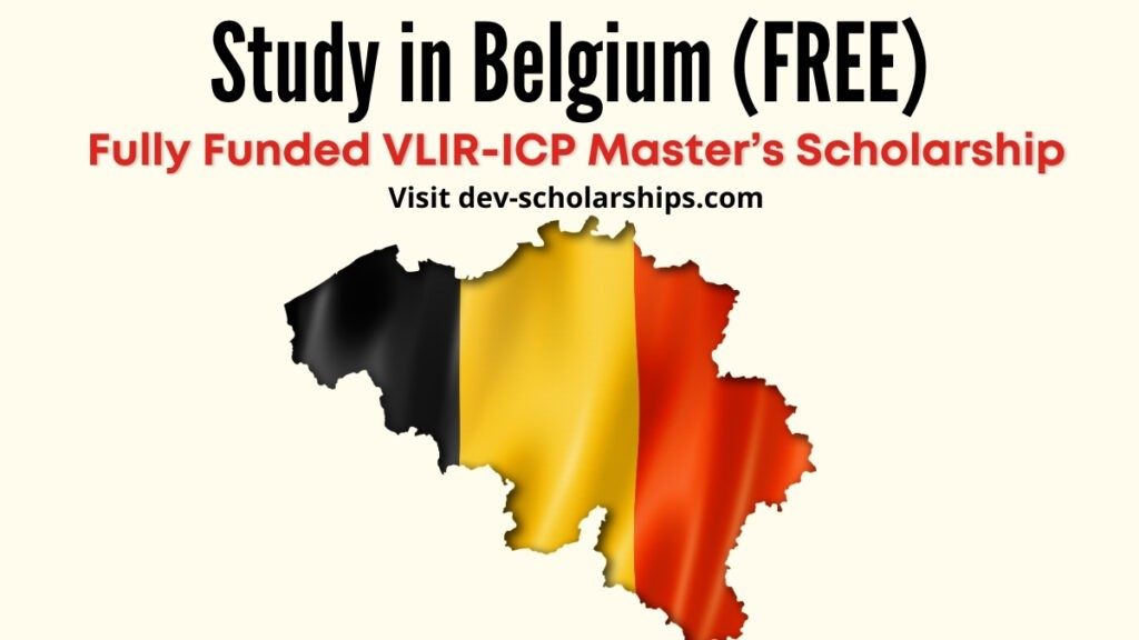 Fully Funded VLIR-ICP Master's Scholarship to Study in Belgium