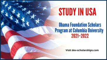 Obama Foundation Scholars Program at Columbia University USA 2021–2022