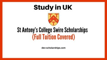 St Antony's College Full Tuition-fees Swire Scholarships in UK