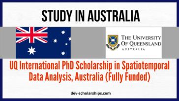 UQ International PhD Scholarship in Spatiotemporal Data Analysis, Australia (Fully Funded)