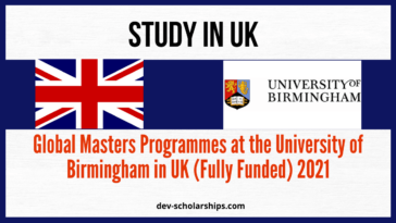 Global Masters Programmes at the University of Birmingham