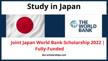 Japan World Bank Scholarship