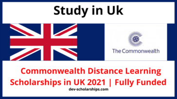Commonwealth Distance Learning Scholarships in UK 2021