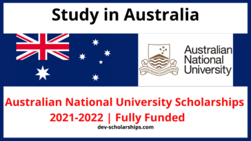 Australian National University Scholarships 2021-2022