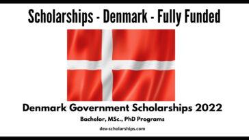 Denmark Government Scholarships 2022   Funded