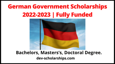 German Government Scholarships 2022-2023