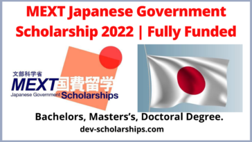 MEXT Japanese Government Scholarship 2022 | Fully Funded